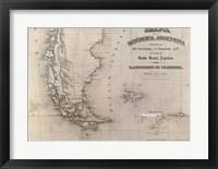 Framed Mapa de la Republica Argentina 1875