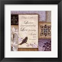 Lavender Inspiration I Framed Print
