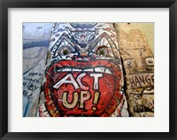 Framed Act Up - Berlin Wall