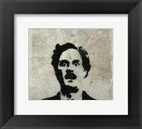 Framed John Clesse graffiti