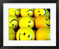 Framed Smiley Face Balls