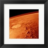 Framed Smiley Face Crater on Mars