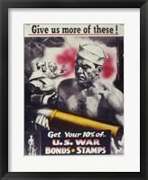 Framed Give Us More U.S. War Bonds
