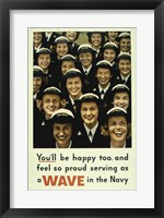 Framed Serving a Wave in the Navy