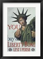 Framed You Buy a Liberty Bond