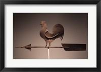 Framed Rooster Weathervane