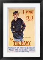 Framed I Want You for the Navy