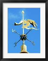 Framed Weathervane on the Church of St Michael