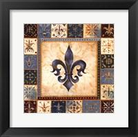 Framed Bleu Fleur De Lis I