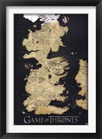 Framed Game of Thrones - Map