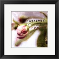 Blossoming Inspiration III Framed Print
