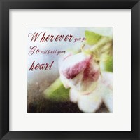 Blossoming Inspiration II Framed Print