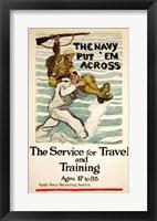 Framed Navy Recruitment Poster