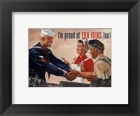 Framed 1944 Jon Whitcomb US Navy