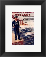 Framed Navy Recruiting Poster, 1909