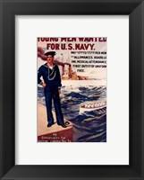 Framed Navy Recruiting Poster, 1909