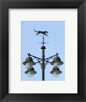 Framed Street Light Detail with Weathervane