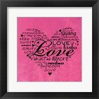 A Love Heart Framed Print