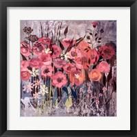 Framed Pink Floral Frenzy I