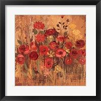 Framed Red Floral Frenzy II