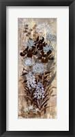 Framed Blue Floral Frenzy I