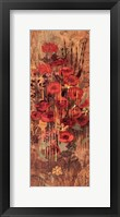 Floral Frenzy Red IV Framed Print