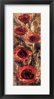 Floral Frenzy Red II Framed Print