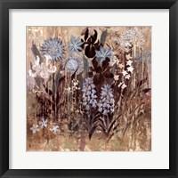 Floral Frenzy Blue III Framed Print