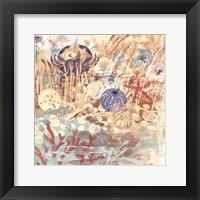Framed Floral Frenzy Coastal II