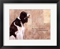Pretty Good Dog Framed Print