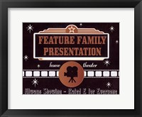 Feature Presentation Framed Print