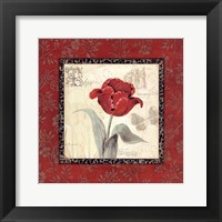 Royal Reds I Framed Print