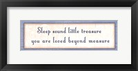 Sleep Sound Framed Print