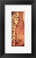 Cabernet - with a bottle Framed Print