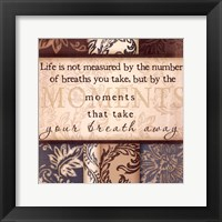 Moments - square Framed Print