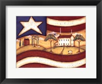 Framed Folk Flag II