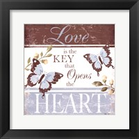 Love Is The Key Framed Print