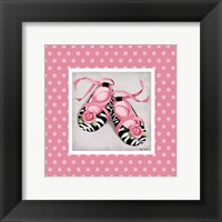 Wild Child Ballet Slippers Framed Print