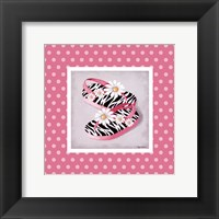Wild Child Flip Flops Framed Print