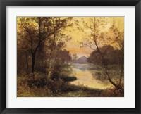 Framed River at Dusk