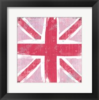 Union Jack Pink Framed Print