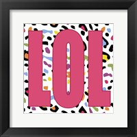 LOL Leopard Framed Print