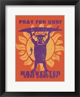 Framed Pray For Surf