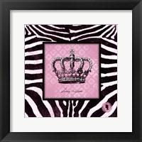 Framed Zebra Crown I