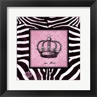 Zebra Crown II Framed Print