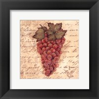 Grapes III Framed Print