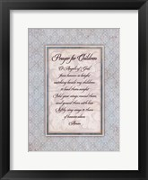 Prayer for Child Framed Print