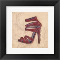 Glamorous Red Heel Framed Print
