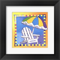 Beach Chair Framed Print