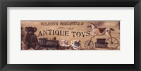 Framed Antique Toys